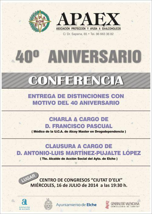 APAEX - cartel 40 aniversario.