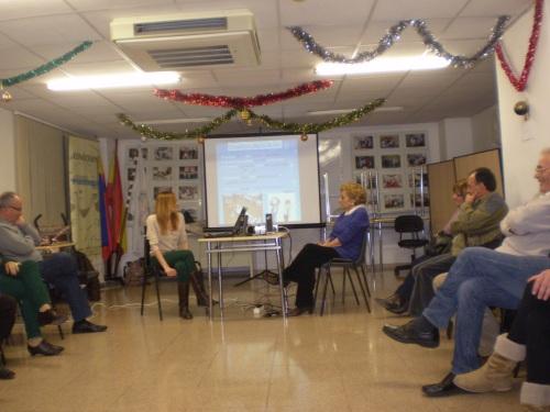 Actividades del taller de socioterapia.