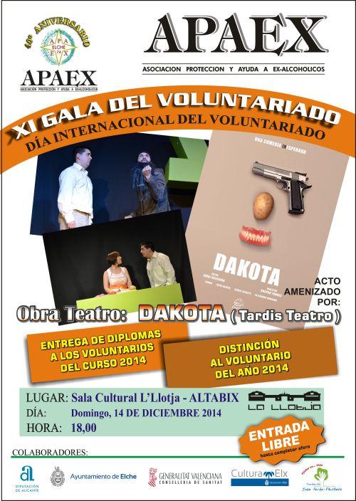 Cartel XI gala de voluntariado APAEX Elche