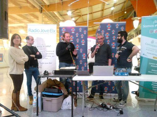 José Sáez y Juan Molina en el programa especial de Radio Jove en el Aljub.