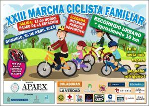 APAEX - Cartel A3 MARCHA CICLISTA 2015-2