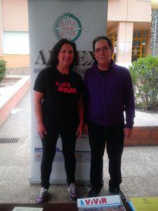 Manuel Agulló Agulló, presidente de APAEX Elche, y Soteria Moreno, presidenta de Sueña de Nuevo.