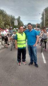 El presidente de APAEX,Manuel Agulló, junto con el Concejal de deportes Daniel Rubio.
